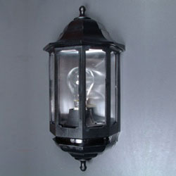 Black out door light fitting